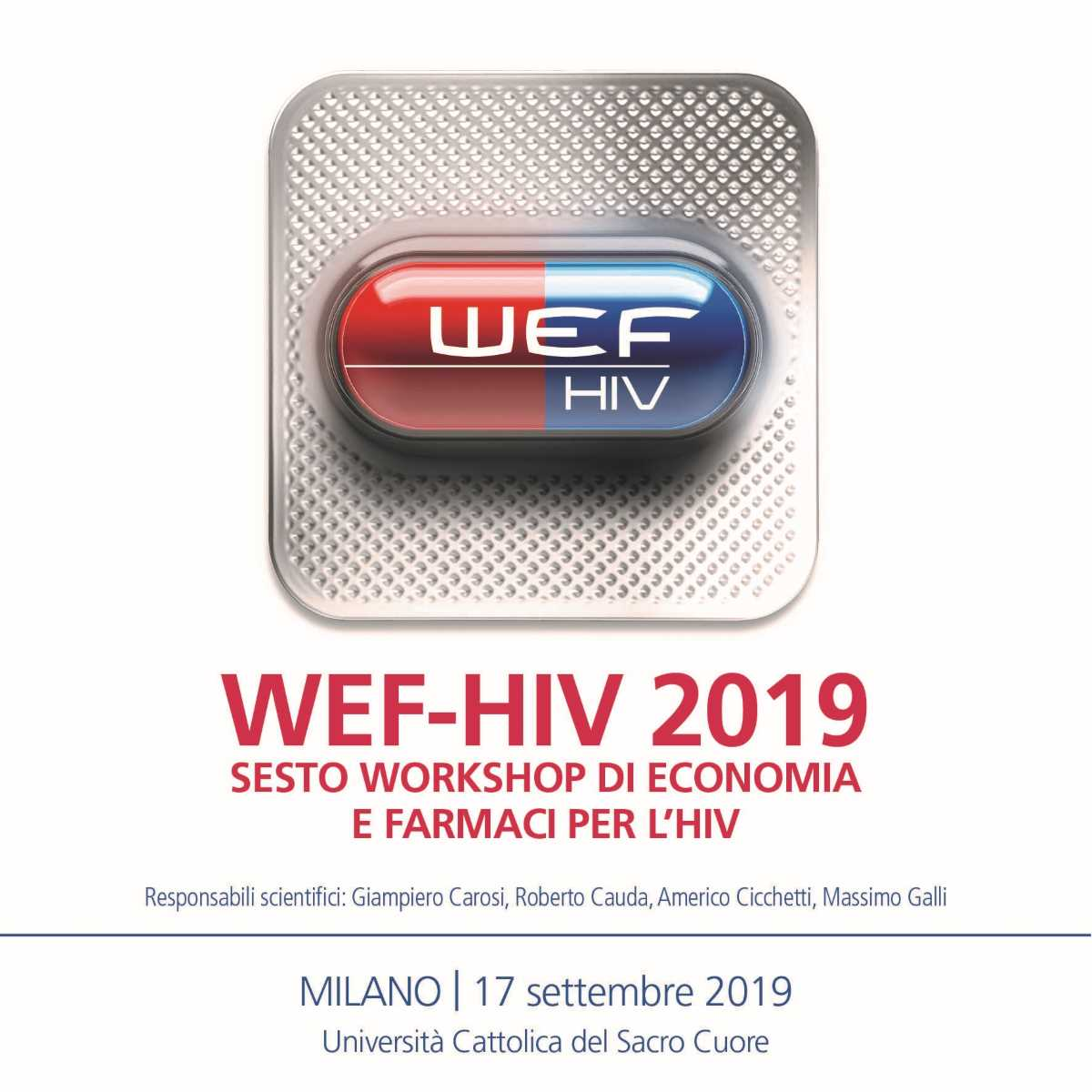 VI  Workshop di Economia e Farmaci per l'HIV - WEF HIV 2019